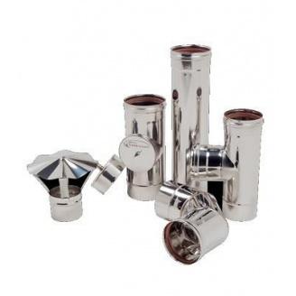Дымоход одностенный из нержавеющей стали 0,5х120 мм