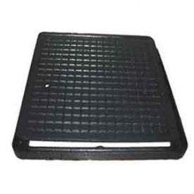 Люк чавунний каналізаційний квадратний ЛК 300х300 мм чорний (1.02.10)