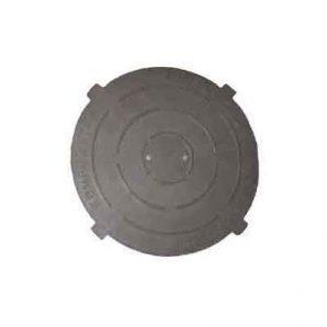 Крышка легкого полимерпесчаного люка черная (к208)