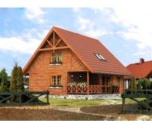 Оздоблення фасаду будинку деревом