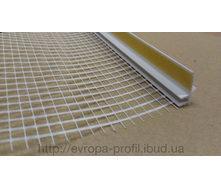 Оконный профиль примыкающий с манжетой и сеткой 2,4 м 3 мм белый