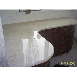 Столешница кухонная из мрамора Crema Mare бежевая