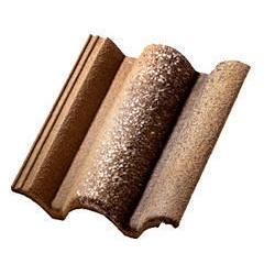 Цементно-песчаная черепица Braas Coppo di Grecia 333х420 мм коричневая