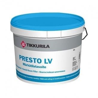 Влагостойкая шпатлевка Tikkurila Presto lv markatilatasoite 10 л сине-серая