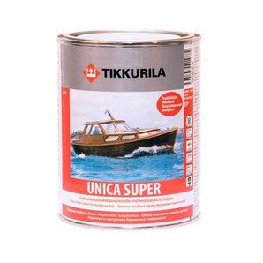 Износостойкий уретано-алкидный лак Tikkurila Unica Super pk 0,225 л полуглянцевый