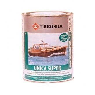 Уретано-алкидный лак Tikkurila Unica Super ph 0,9 л полуматовый