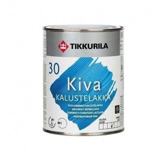 Акрилатный лак для мебели Tikkurila Kiva kalustelakka puolihimmea 0,225 л полуматовый