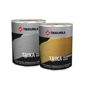Перламутровая краска Tikkurila Taika helmiaismaalit 0,9 л золотистый базис