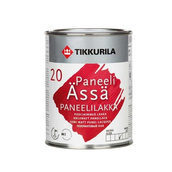 Акрилатный лак Tikkurila Paneeliassa paneelilakka puolihimmea 0,9 л полуматовый
