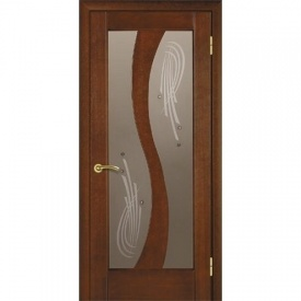 Межкомнатная дверь TERMINUS Modern Модель 15 остекленная каштан