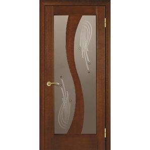 Міжкімнатні двері TERMINUS Modern Модель 15 засклені каштан