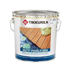 Водорозчинна масляна емульсія Tikkurila valtti puuoljy akva 2,7 л безбарвна