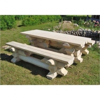 Садові меблі з бруса