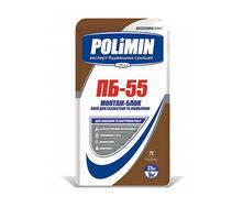 Клей для газобетона и пеноблоков Polimin Монтаж-блок ПБ-55 25 кг