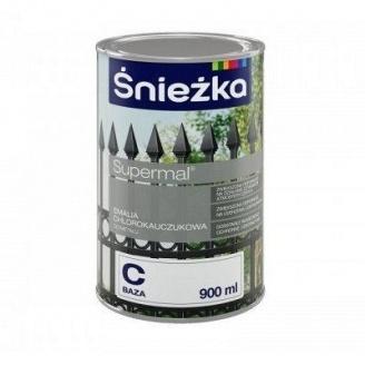 Хлоркаучуковая эмаль Sniezka база B и C 0,9 л белая