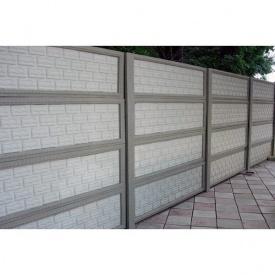 Железобетонный забор 2 м серый