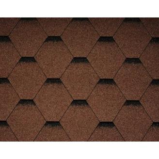 Битумная черепица Icopal Plano Optima 1000*317 мм коричневая