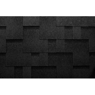 Гибкая черепица Katepal Rocky 1000*317 мм черная