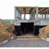 Влаштування збірного залізобетонного фундаменту будівлі