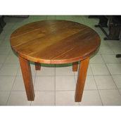 Стол круглый деревянный 1000х750 мм