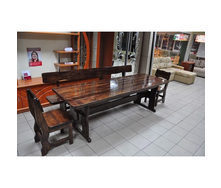 Стол деревянный для дачи 2200х800х770 мм тик