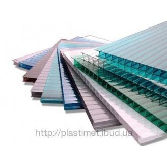 Стільниковий полікарбонат Policam 4 мм 2,1х6 м прозорий