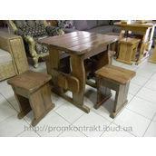 Стіл дерев'яний садовий 750х750х770 мм тик
