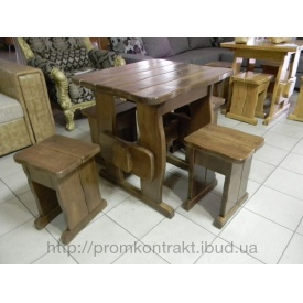 Стол деревянный садовый 750*750х770 мм тик