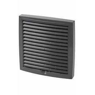 Наружная вентиляционная решетка Vilpe 375*375 мм серая
