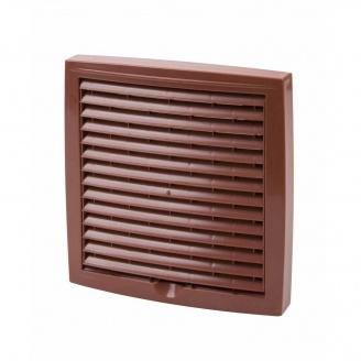Наружная вентиляционная решетка Vilpe 240*240 мм красная
