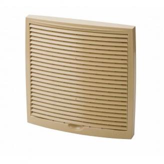 Наружная вентиляционная решетка Vilpe 240*240 мм бежевая