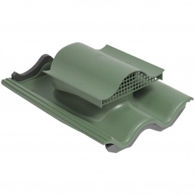 Кровельный вентиль VILPE TIILI-KTV с адаптером 440х330 мм зеленый