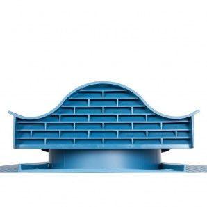 Покрівельний вентиль VILPE HUOPA-KTV 450х378 мм синій