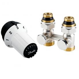 Комплект радиаторных терморегуляторов Danfoss RAS-C, RLV-KS прямой (013G5277)