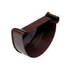 Внутрішня заглушка Wavin Kanion ліва 100х32,5 мм коричнева