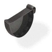 Зовнішня заглушка Wavin Kanion ліва/права 75х25 мм графитная