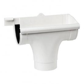 Лійка права Profil 130/100 мм біла