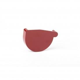 Заглушка ринви ліва Profil L 90 мм червона