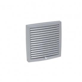 Зовнішня вентиляційна решітка VILPE 150х150 мм світло-сіра