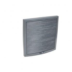 Наружная вентиляционная решетка VILPE 375х375 мм серая