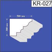 Карниз из пенополистирола Валькирия 500х380 мм (KR 027)
