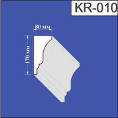 Карниз из пенополистирола Валькирия 80х170 мм (KR 010)