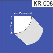 Карниз из пенополистирола Валькирия 170х170 мм (KR 008)