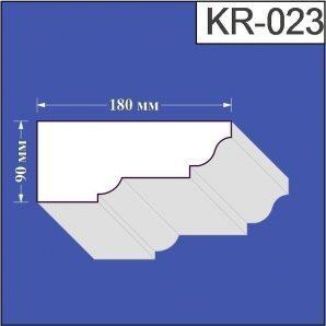 Карниз з пінополістиролу Валькірія 180х90 мм (KR 023)