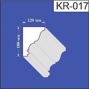 Карниз з пінополістиролу Валькірія 120х180 мм (KR 017)