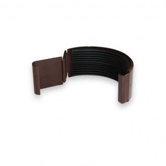Соединитель желоба Акведук Премиум 125 мм коричневый RAL 8017