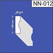 Наличник из пенополистирола Валькирия 40х140 мм (NN 012)