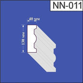 Наличник из пенополистирола Валькирия 40х130 мм (NN 011)