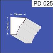 Подоконник из пенополистирола Валькирия 260х300 мм (PD 025)