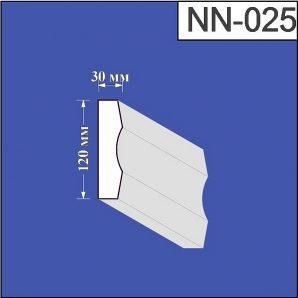 Наличник з пінополістиролу Валькірія 30х120 мм (NN 025)